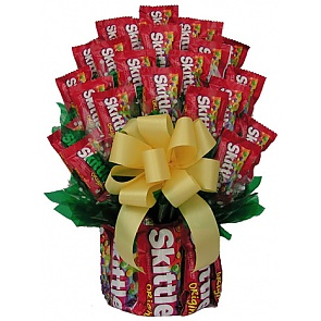 All Skittles Candy Bouquet - Large - Send Candy Bouquets #SkittlesCandyBouquet