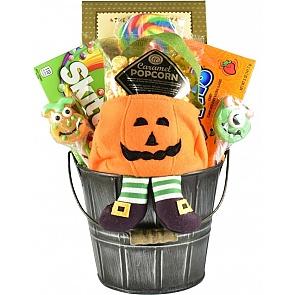 Jack-O-Lantern Treats Halloween Gift Basket - Jack-O-Lantern Treats Halloween Gift Basket #HalloweenGiftBasket