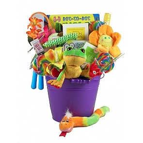 Playtime For Kids Gift Basket - Tree Frog -