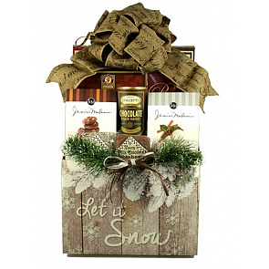 Let It Snow, Holiday Gift Basket (Large) -