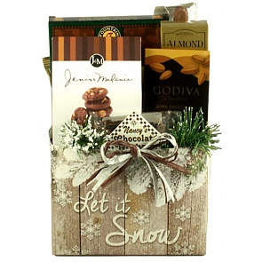 Let It Snow Holiday Gift Basket(Small) -
