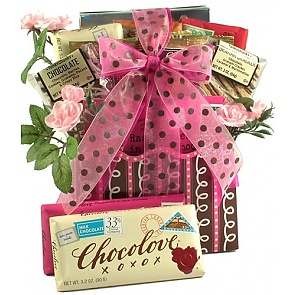 Love Letters Romantic Gift Basket - Romantic Gift Baskets for Couples