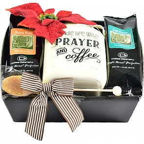 Christmas Coffee Bar Gift Basket - Christmas Coffee Bar Gift Basket