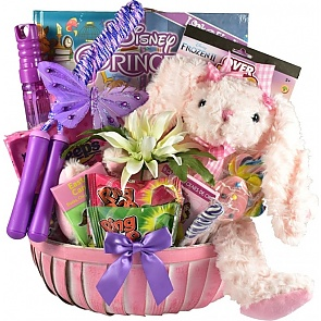 Pretty Little Princess Easter Basket - Send kids Easter baskets online - Girls Easter Baskets #GirlsEasterBaskets