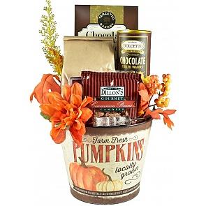 Shades of Autumn Gift Basket - Pumpkin Bucket - Shades of Autumn Gift Basket  #FallGiftBasket