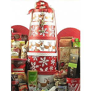 Reindeer Games Deluxe Christmas Gift Tower - Christmas Gift Towers