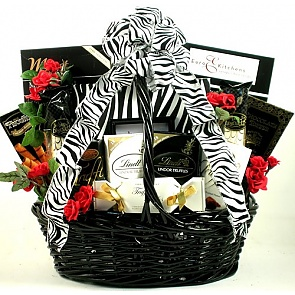 On The Wild Side Gift Basket - Romantic Gift Baskets for Couples