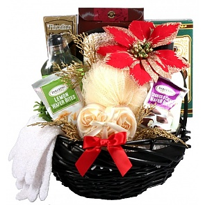Spa Day Holiday Gift Basket for Her - Spa Gift Baskets for Women #ChristmasSpaBasket