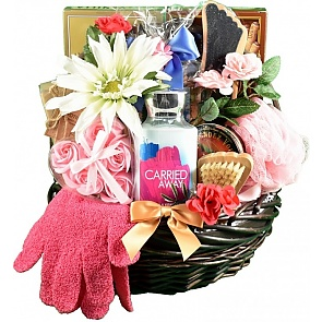 Sweet Escape Spa and Chocolates Basket - Spa Gift Baskets for Women