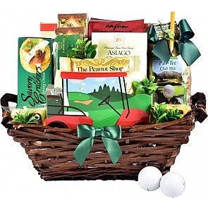 Tee Time Golf Gift Basket - Tee Time Golf Gift Basket #GolfGiftBasket