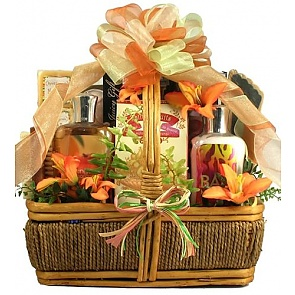 Island Getaway Tropical Spa Gift Basket - Spa Gift Baskets for Women