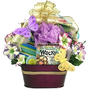 For A Wonderfully Wacky Woman - Spa Gift Basket - Spa Gift Baskets for Women