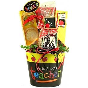 Worlds Best Teacher Gift Basket - Worlds Best Teacher Gift Basket